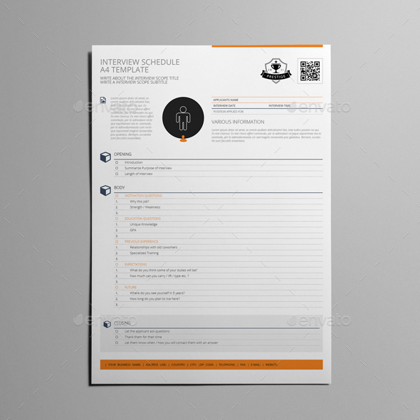Interview schedule a4 template by keboto graphicriver interview schedule a4 template kfea 1g maxwellsz