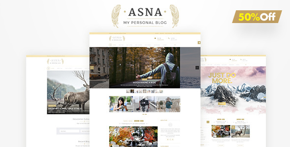 Asna | Personal Blog - Blog / Magazine WordPress