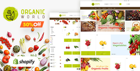 Organic | Fruits & Organic Vegetables Shopify Theme - Shopify eCommerce