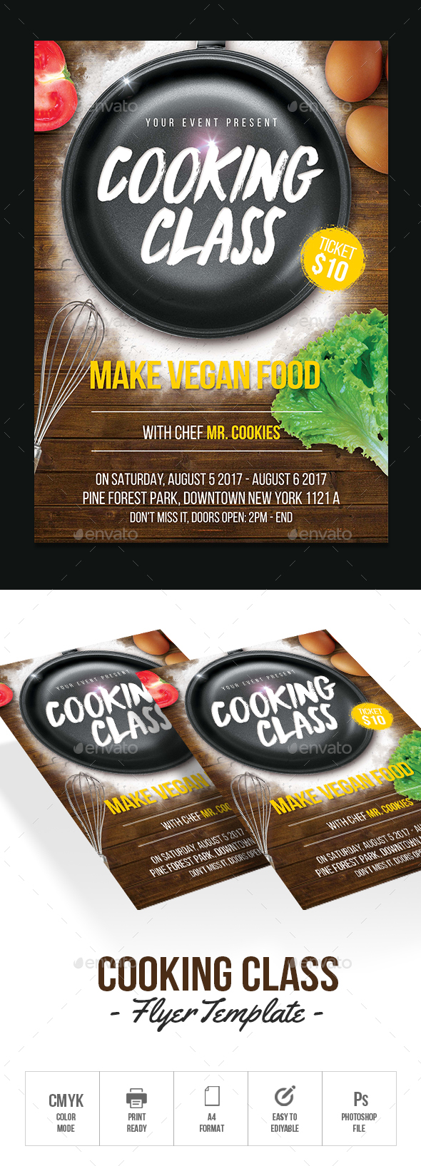 Cooking Classes Flyer - Flyers Print Templates