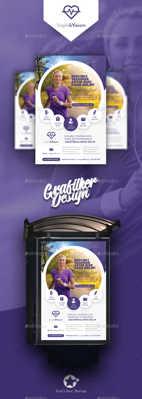 GraphicRiver Healthy Life Poster Templates 20658148