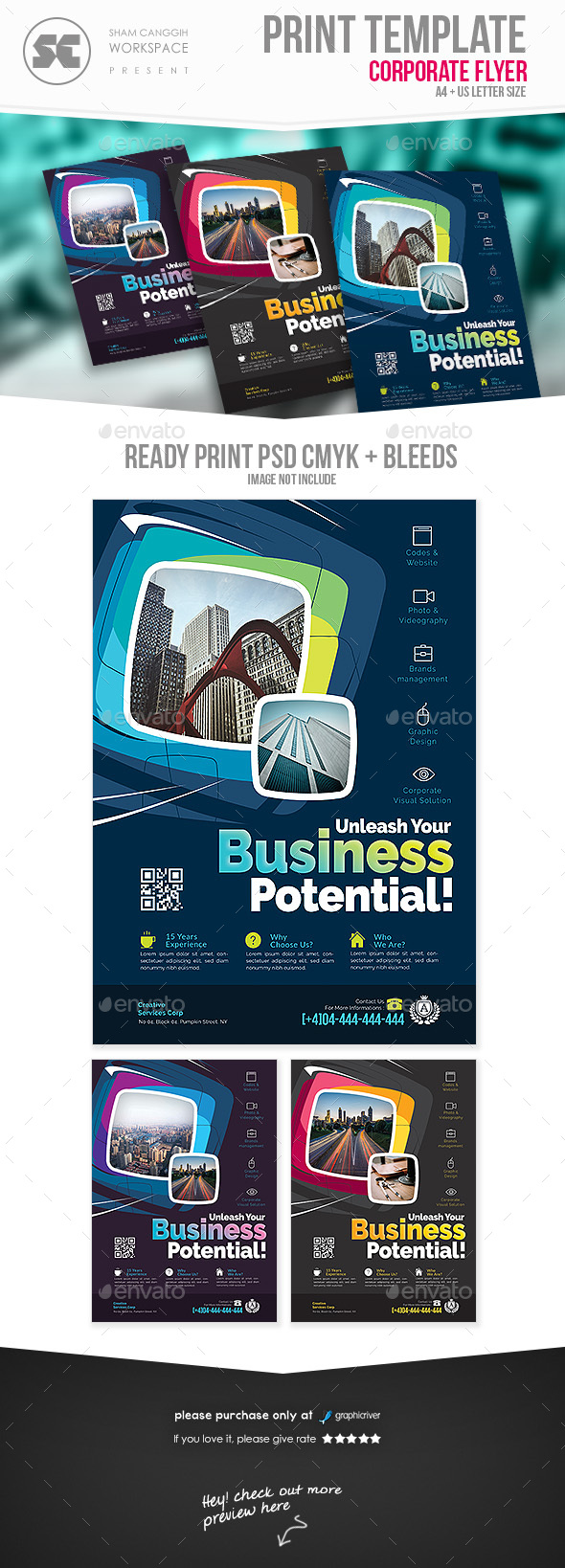 GraphicRiver Creative Corporate Flyer 20658160