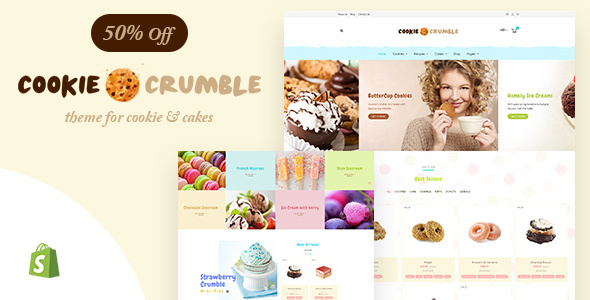 Cookie Food | Bakery, Cookie, Food Products Shopify Theme - Shopify eCommerce