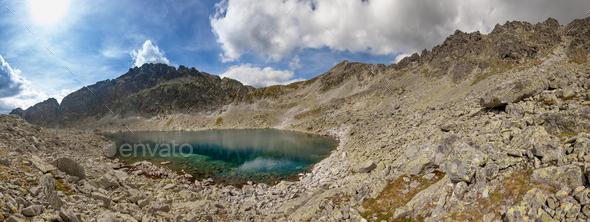 Photo of Velke Zabie pleso lake in High Tatra Mountains, Slovakia, Europe - Stock Photo - Images