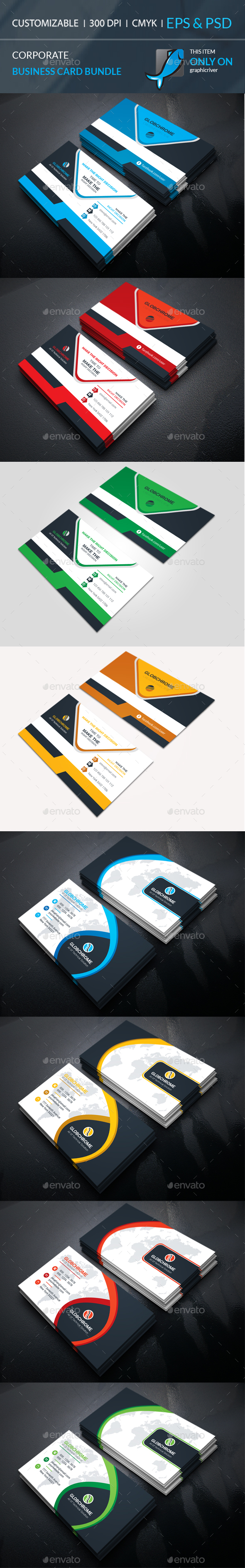 GraphicRiver Corporate Business Card Bundle 20658182