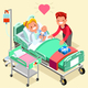 Birth and Pregnancy Vector Isometric People Illustration - GraphicRiver Item for Sale