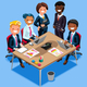 Business Character Vector Cartoon Isometric People