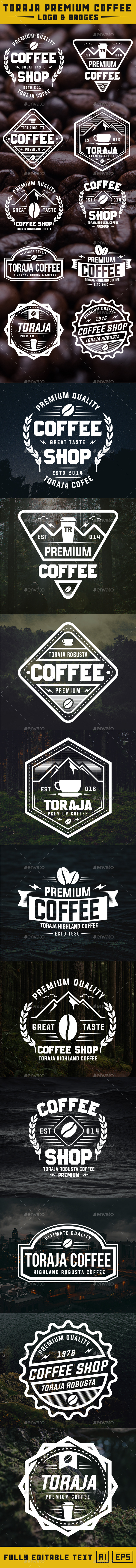 10 Coffee Logo & Badges - Badges & Stickers Web Elements