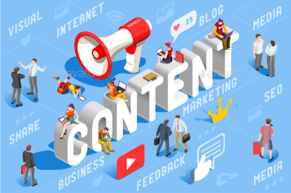 Content Marketing Business Concept Vector - Vectors