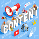 Content Marketing Business Concept Vector - GraphicRiver Item for Sale