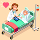 Doctor and Female Senior Patient Isometric People Vector - GraphicRiver Item for Sale