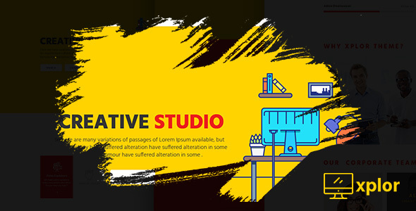 Xplor - Creative Agency PSD Template - Creative PSD Templates