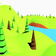 Lowpoly Terrain 01 - River with mountains