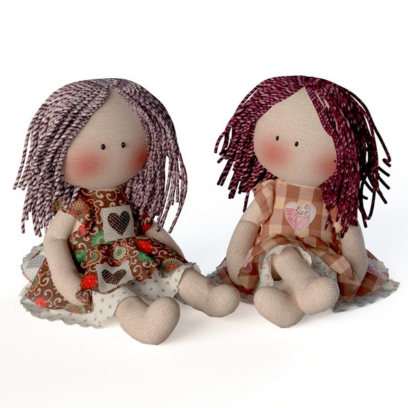 Textile doll Tilda toy - 3DOcean Item for Sale
