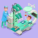 Hospital Surgery Medical Doctor Devices Isometric Icon