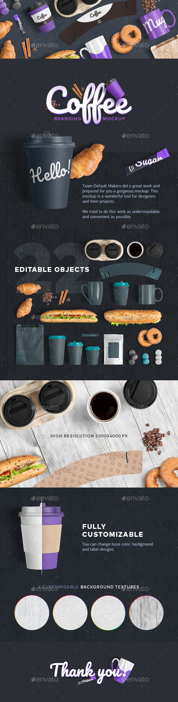 GraphicRiver Coffee Branding Mockup 20658433