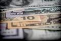 Several dollar bills, conceptual image, concept of wealth