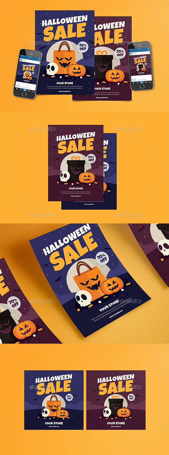 GraphicRiver Halloween Sale Flyer 20658469