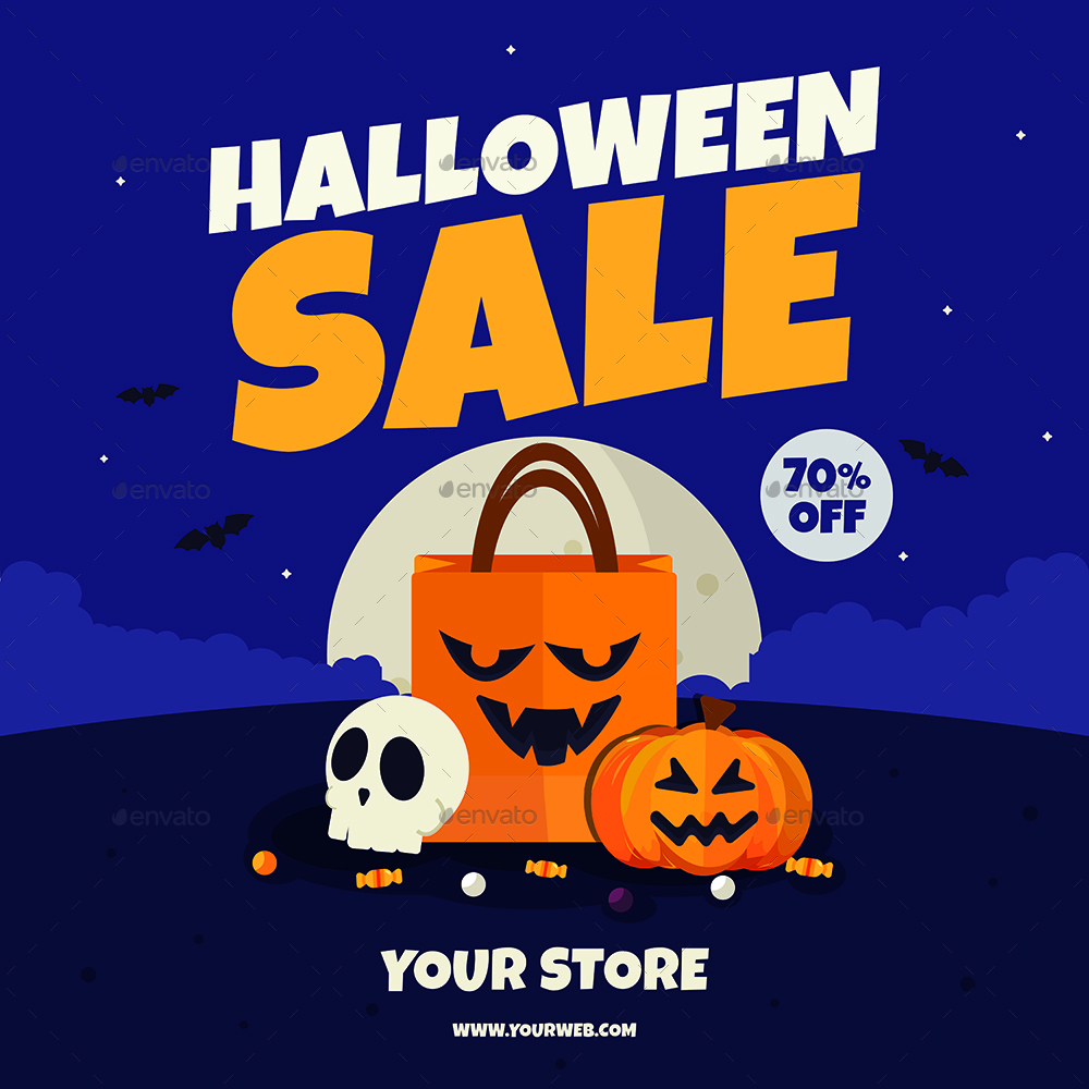 Great Preview Image Set/Halloween Sale Flyer Blue Preview Image Set/Halloween  Sale Flyer Purple ...