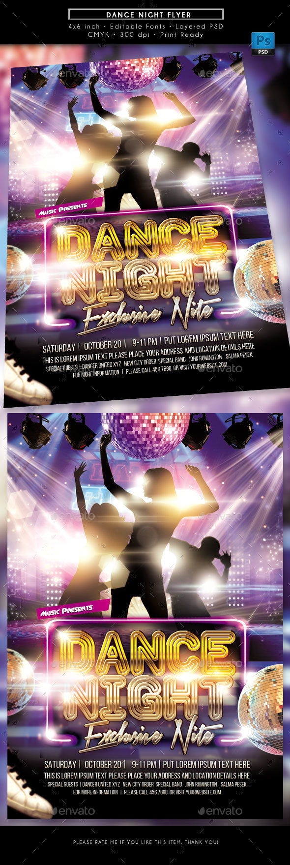 Dance Night Flyer - Miscellaneous Events