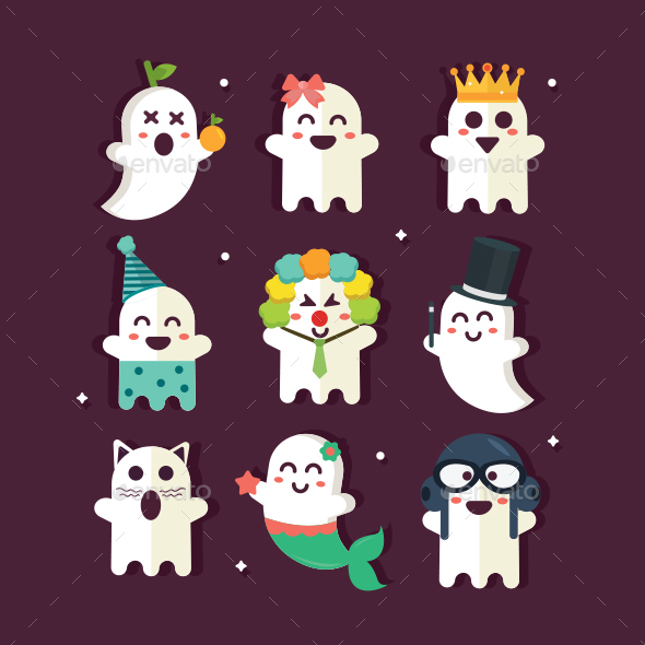 Ghost Party Icon - Characters Vectors
