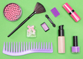 Set of cosmetic bag essentials