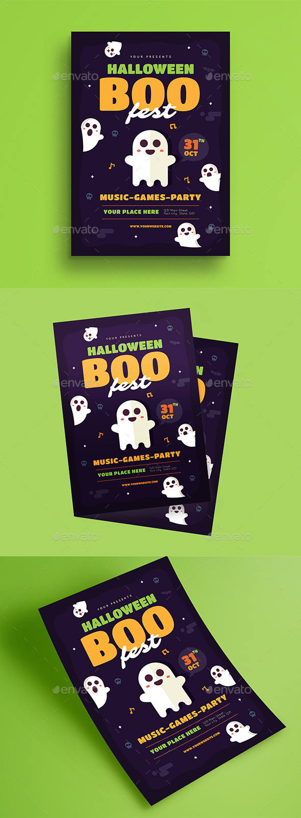 Halloween Boo Fest Flyer - Events Flyers