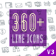 Line Icons Pack 360 Animated Icons - VideoHive Item for Sale