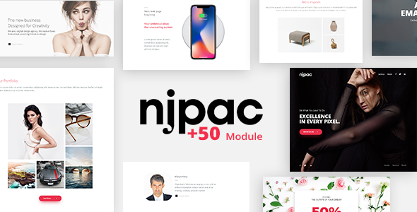 Njpac - Responsive Email Template Minimal - Email Templates Marketing
