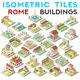 Isometric Tile Set Buildings Roman Game Icons