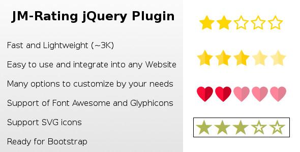 Rating jQuery Plugin