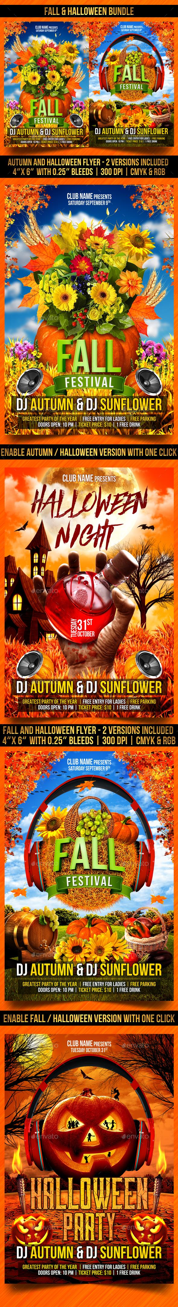 GraphicRiver Fall and Halloween Bundle 20658703