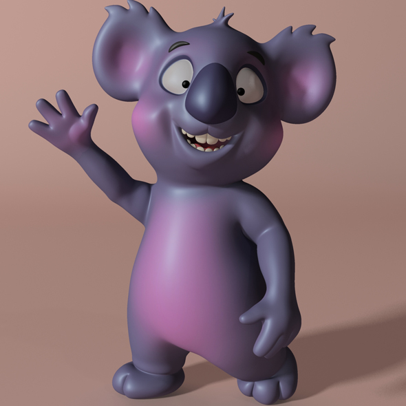 Cartoon koala RIGGED and ANIMATED - 3DOcean Item for Sale