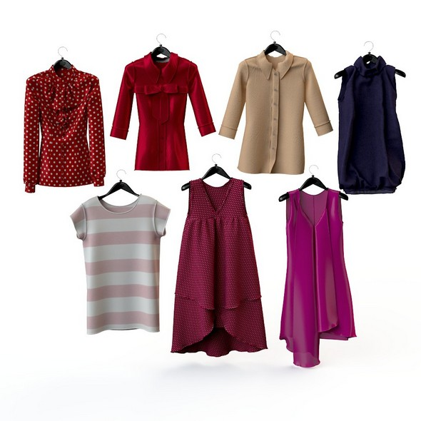 Set of women's clothing, blouse, shirt, tunic, shirt, top - 3DOcean Item for Sale