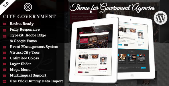 City Government - WordPress Retina Theme - Political Nonprofit