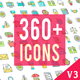 Icons Pack 360 Animated Icons - VideoHive Item for Sale