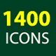 1400 Icons - GraphicRiver Item for Sale