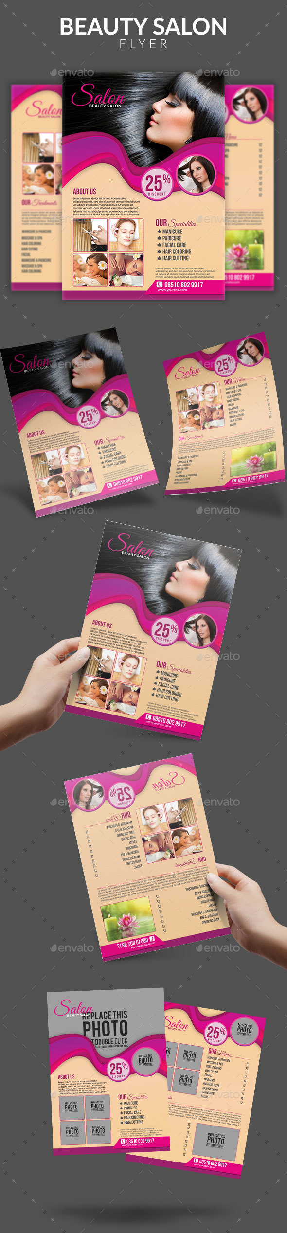 GraphicRiver Beauty Salon Promotion Flyer 20659436