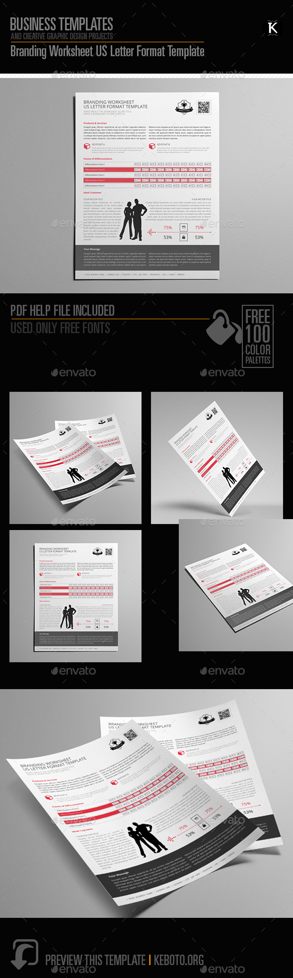 GraphicRiver Branding Worksheet US Letter Format Template 20659569