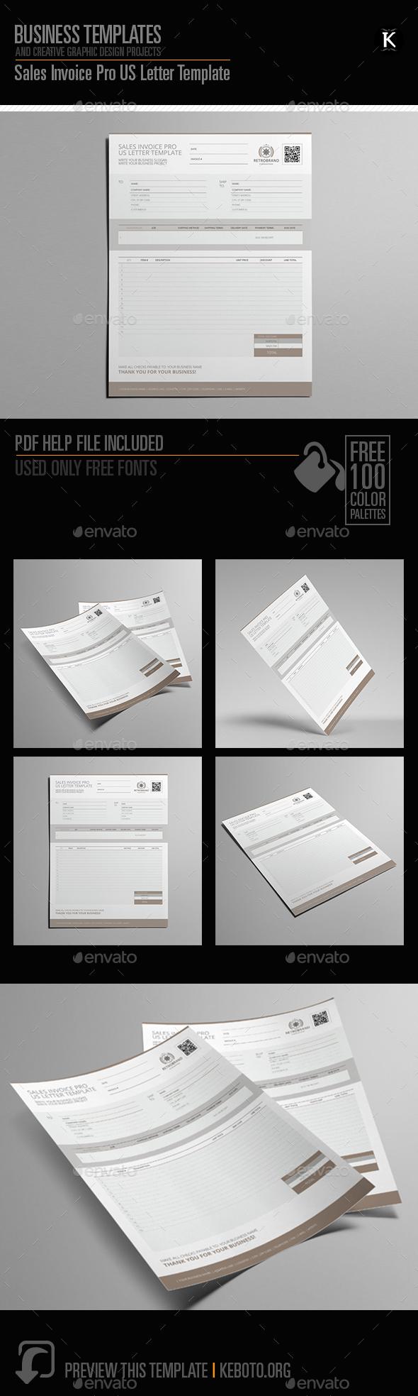 GraphicRiver Sales Invoice Pro US Letter Template 20659572