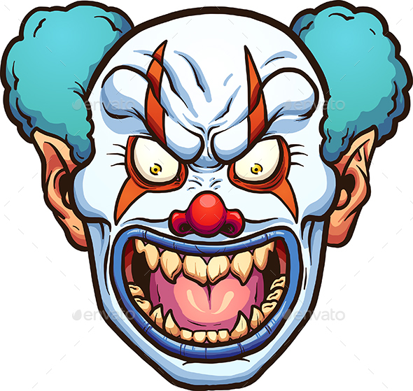 Cartoon Characters Evil : Evil clown by memoangeles graphicriver
