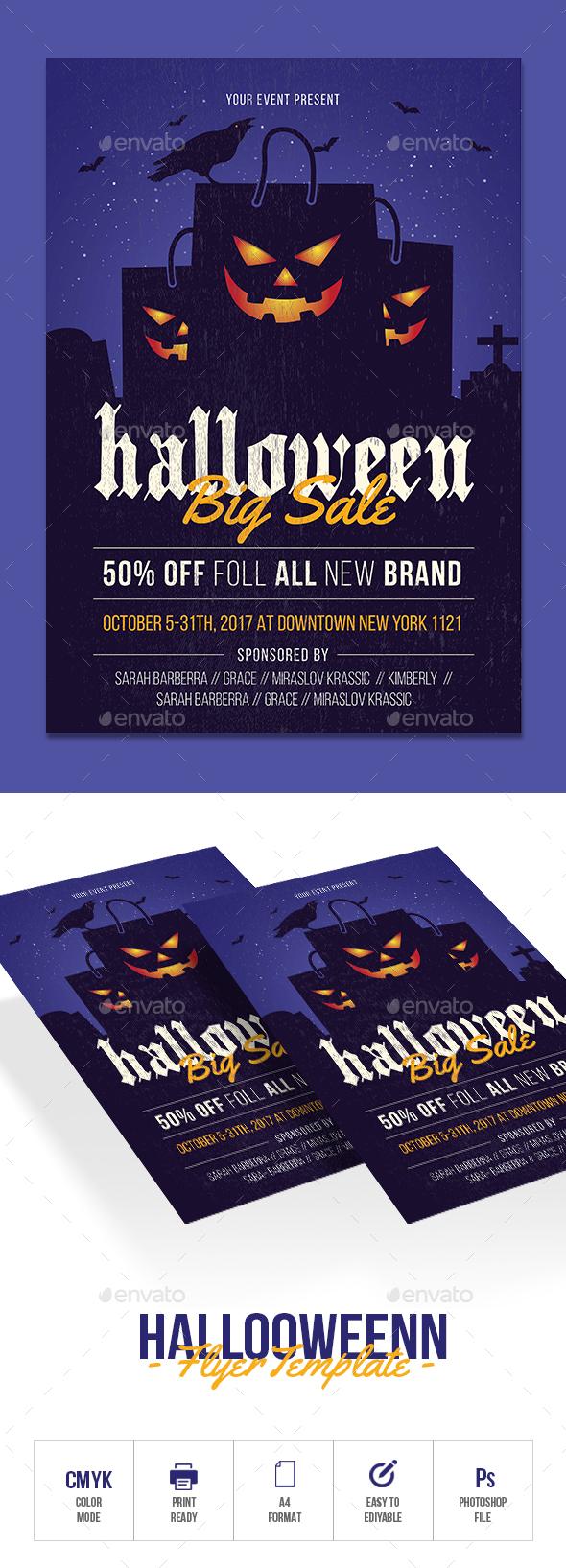 Halloween Sale - Events Flyers
