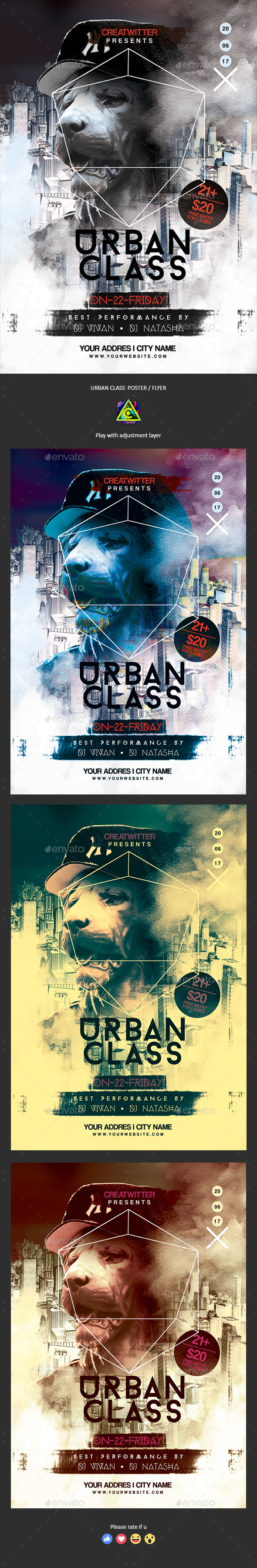Urban Class Poster / Flyer - Clubs & Parties Events