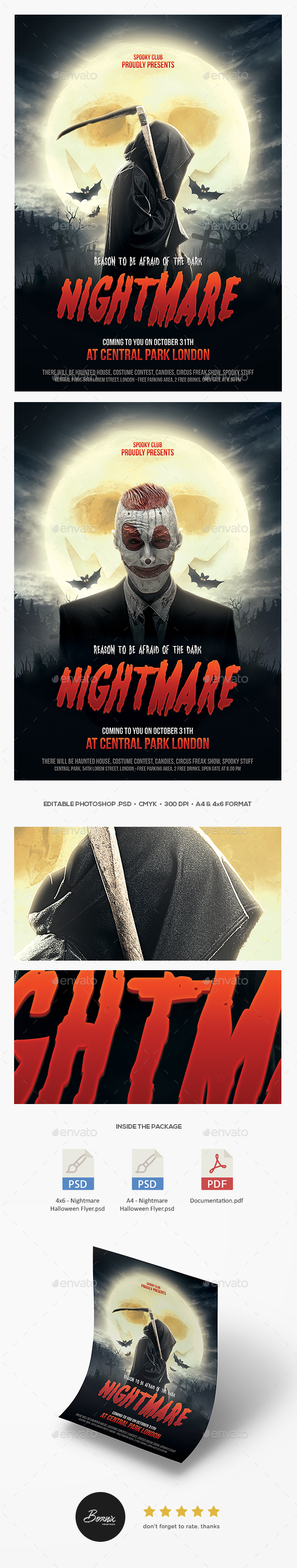 Nightmare Halloween Flyer