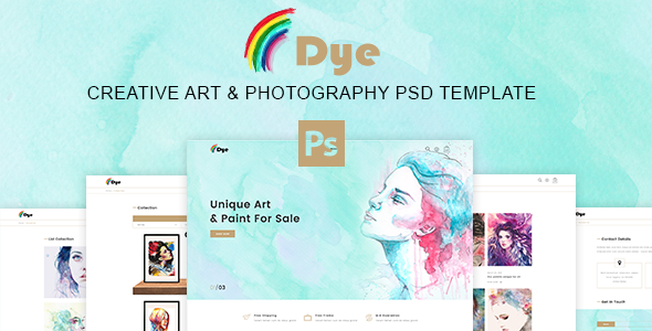 Dye – MultiPurpose Creative Art & Photography PSD Template - Retail PSD Templates