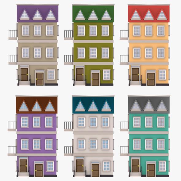 cartoon house 01 - 3DOcean Item for Sale