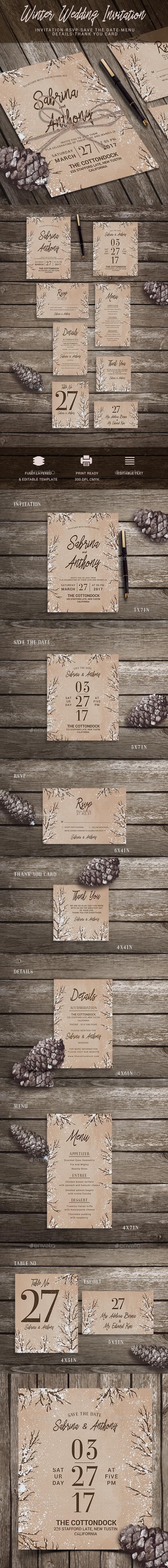 GraphicRiver Wedding Invitation 20659898