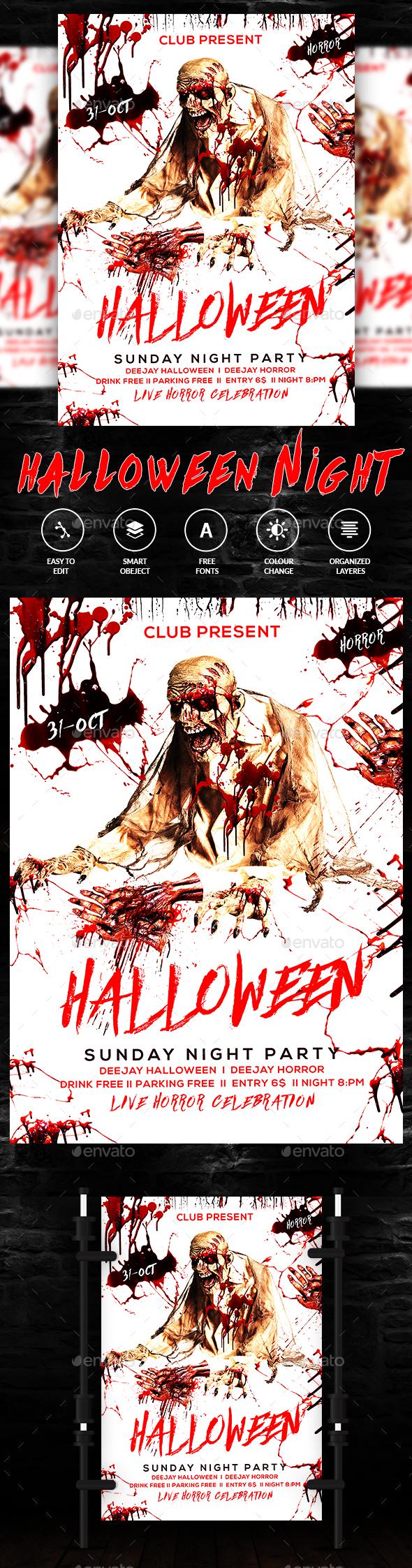 GraphicRiver Halloween Flyer 20660035