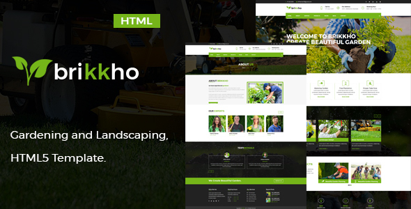 Brikkho- Garden and Landscaping HTML5 Template - Business Corporate