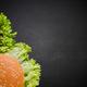 restaurant menu, burger ingredients and copy space - PhotoDune Item for Sale